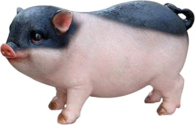 X Hot Popcorn 7 Inch Pig Figurine Cute Pig Statue Collectible Figurine(Standing)