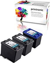 Printronic Remanufactured Ink Cartridge Replacement 3 Pack for HP 56 HP 57 for Deskjet 450 5650 5550 PhotoSmart 7760 PSC 1110 1210 1315 1350 2410 (2 Black, 1 Color)