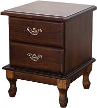 Bedside Table Solid Wood Bedside Table - Modern Minimalist Mini Wholesale Locker Bedroom Bedside 2 Drawers Storage Cabinet...