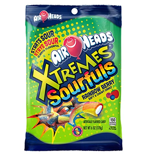 Airheads Xtremes Sourfuls Candy Bag, Rainbow Berry, Non Melting, Bulk Party Bag, 6 oz (Pack of 12)
