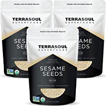 errasoul Superfoods Organic Hulled Sesame Seeds, 6 Lbs (3 Pack) - Perfect for Tahini | Gluten-free | Raw