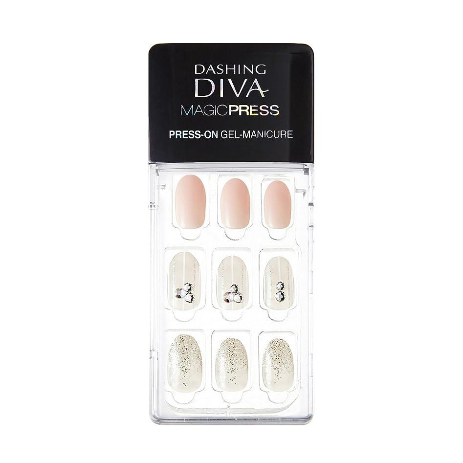 適性研究歯ダッシングディバ マジックプレス DASHING DIVA MagicPress MJP_008-DURY+ オリジナルジェル ネイルチップ