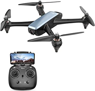 Brushless GPS FPV RC Drone, Potensic D60 Drone with 1080P Camera Live Video & GPS Return Home, RC Quadcopter for Adults with Strong Brushless Motors, Follow Me & 5G WiFi Transmission Navy