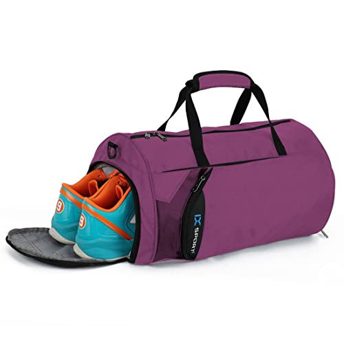 INOXTO Fitness Sport Small Gym Bag with Shoes Compartment Waterproof Travel Duffel  Bag for Women and 2de0b51902