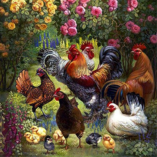 5D Diamond Embroidery Chicken Cock Baby Diy Diamond Painting Cross Stitch Square Mosaic Home Decor