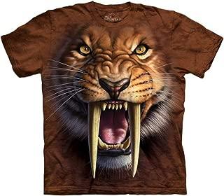 Mountain Sabertooth Tiger Adult Size T-Shirt