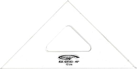 Graphoplex Zeichendreieck 60//° 3/Kanten Rechte transparent 10 cm durchsichtig