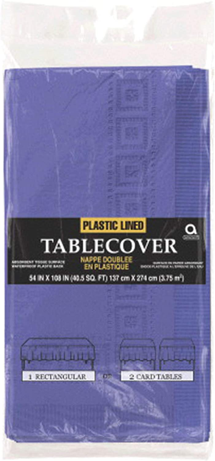 54 x 108 Amscan 3-Ply Paper Gold Table Cover