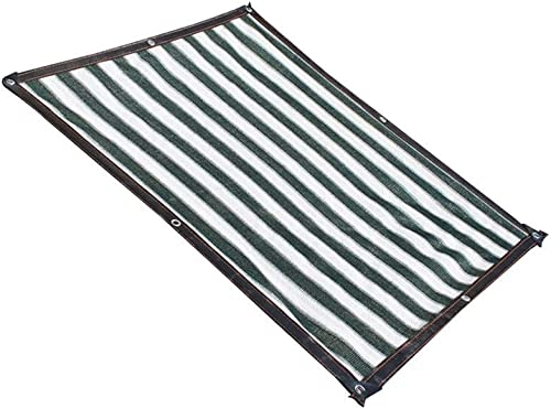 LQQFF Parasol, Parasol crème Solaire Soleil Net Balcon Fleur de Jardin Vert écran Solaire Parasol, Vert foncé + Blanc Parasol Portable