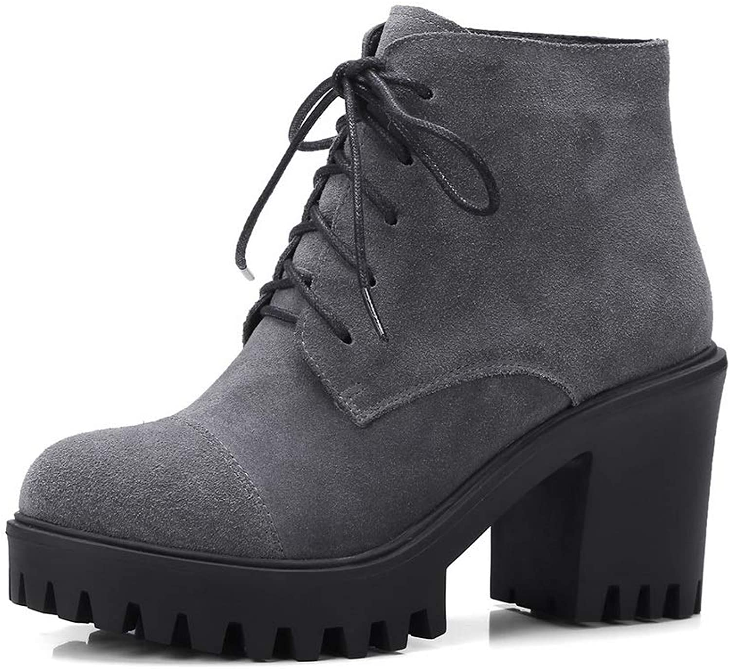 1TO9 Womens Bucket-Style Platform Solid Urethane Boots MNS03471
