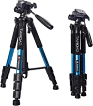"""Tairoad 55"""" Camera Tripod Lightweight Compact Aluminum Alloy Travel Tripod with 3 Way Pan Head for Cameras Canon Nikon"""