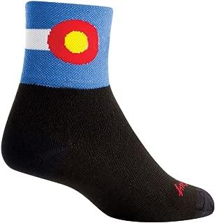 SockGuy Classic 3in Colorado Flag Cycling/Running Socks