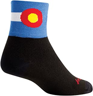 SockGuy Classic 3in Colorado Flag Cycling/Running Socks