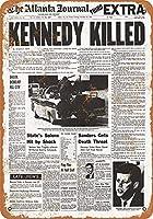 金属記号ケネディ殺された見出しレトロな装飾ティンサインバー、カフェ、アート、家の壁の装飾