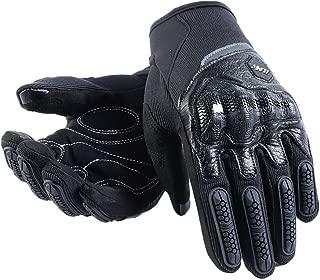 ILM ATV BMX MX MTB Riding Cycling Dirt Bike Full Finger Gloves Touchscreen Motorcycle Motocross Sports Men Women (Black, XL)