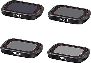 مرشحات TOMAT Pocket 2 - (ND8 ND16 ND32 ND64) عدسات الكاميرا ND لملحقات جيب دي جيه آي 2/OSMO الجيب عبوة من 4 قطع