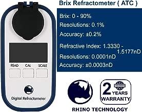 Rhino 0-90 Digital Brix Maple Syrup Jam Sauces Juice Refractometer ATC IP65