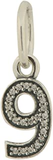 Pandora Number 9 with Clear CZ Pendant 791347CZ