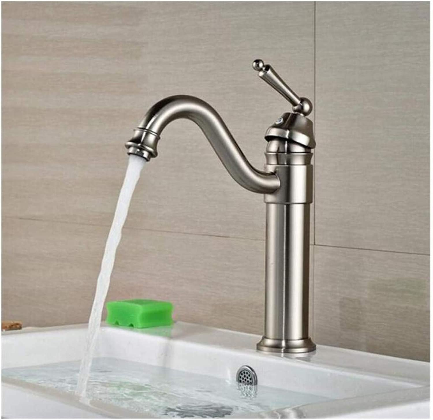 Chrome-Plated Adjustable Temperature-Sensitive Led Faucethandle Basin Mixer Tap Spout Tap Multi-colors