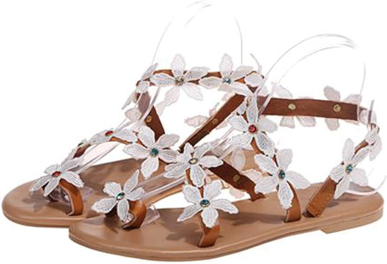 Btrada Women's Flower Rhinestone Product Sandals Comfort Ranking TOP6 Wedding Summer