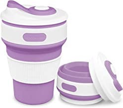 Rocontrip Collapsible Cup, Silicone Folding Cup, Trip Cup, Suitable for Outdoor Picnics Sporting Event Cup, 7 Colors