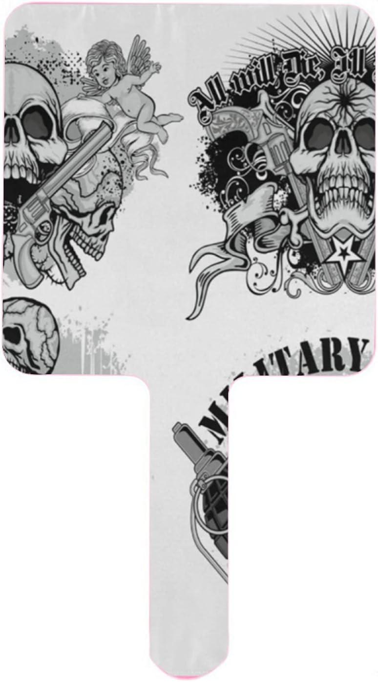 XfaithX Hand Mirror Special Emblem New sales and Handheld Guns Skull Mirro Rapid rise