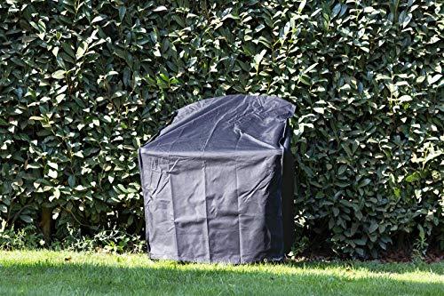 MaximaVida Schwarze Schutzhülle für Adirondack Gartenstuhl - 600 Gramm schwere Ausführung