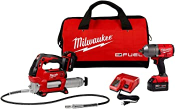"Milwaukee Electric Tools M18 Fuel 1/2"" High-Torque Impact w/Free Grease Gu, Chrome (2767-22GG)"