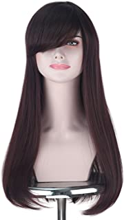 Miss U Hair Synthetic Long Brown Wave Girl Fashion DVA Game Cosplay Costume Wig Adult