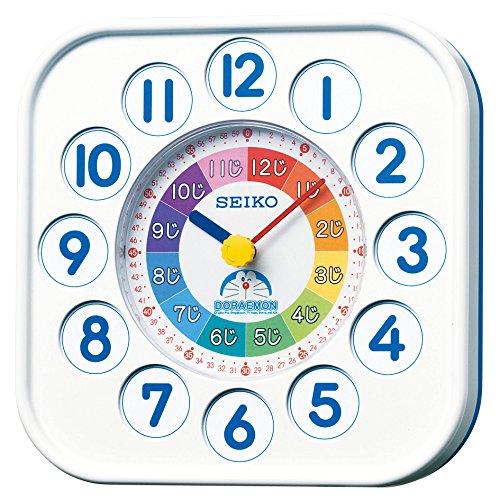 セイコークロック掛け時計置き時計兼用知育ドラえもんアナログ白CQ319WSEIKO