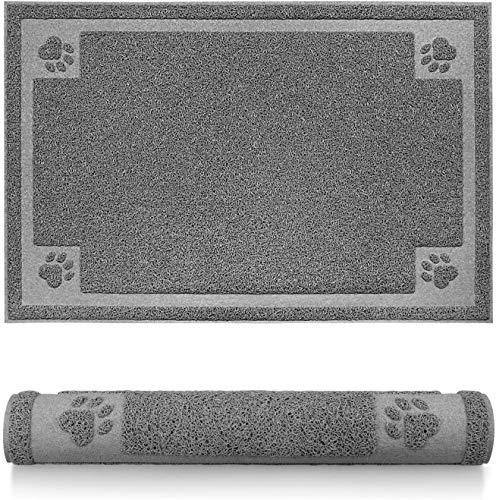 YAUNGEL Tapis de nourriture XXL pour chien, 90 x 60 cm souple et étanche, tapis de litière pour chat, tapis de nourriture pour animal domestique, tapis de gamelle avec envers antidérapant