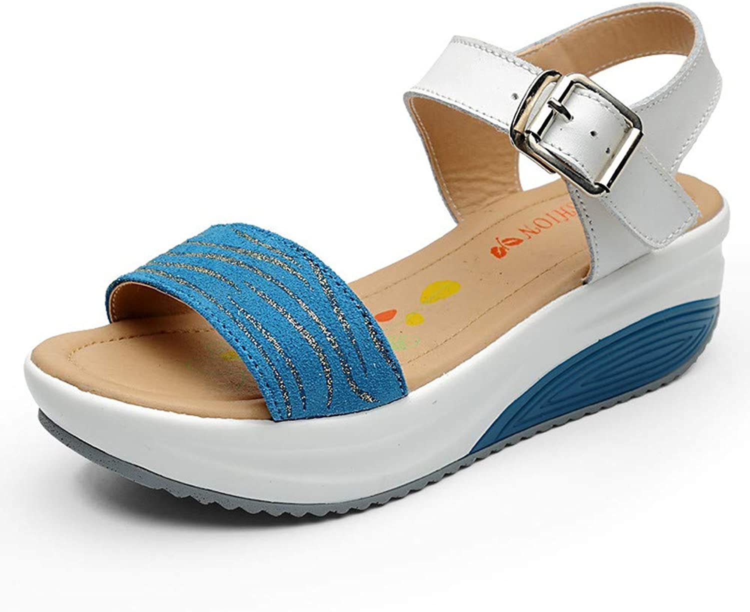 DBQWTY Classic Buckle Sandals for ladies'comfortable Walking Fashion in Summer