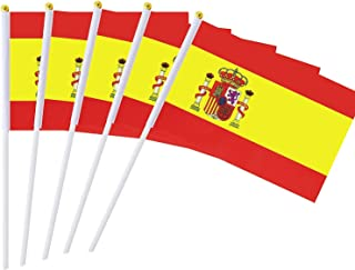 MLIAN 25-delige set handvlaggen Spanje mini vlag voetbal decoratie 22 x 14 cm