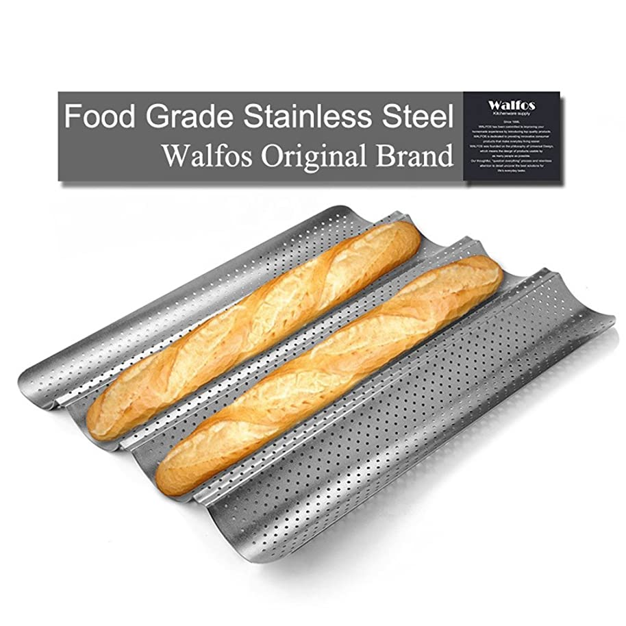Brand 100% Food Grade Carbon Steel 4 Groove 2 Groove Wave French Bread Baking Tray For Baguette Bake Mold Pan