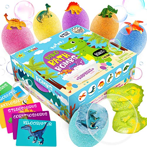 Dino Egg Bath Bombs with Surprise Inside for Kids...