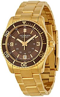 Victorinox Maverick Brown Dial Stainless Steel Ladies Watch 241614XG (Renewed)