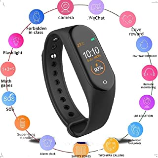 KDENTERPRISE AM-4 Smart Band Bluetooth Waterproof Heart Rate Monitor Smart Screen Bracelet Fitness Tracker (Free Size, Black) Pack of 1