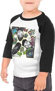 De La Soul 3 Feet High & Rising Baby 3/4 Sleeve Raglan Baseball Tshirts for Girls & Boys Black