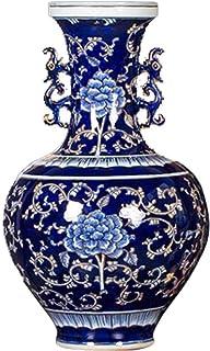 Floreros de decoración para la vida Florero de decoración de flores artificiales Porcelana pintada a mano Arreglo floral d...