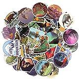 HOWAF Wasserdicht Vinyl Graffiti Reise Aufkleber Decals Pack für Auto Motorrad Laptop Skateboard Fahrrad Koffer Notebook Gitarre Gepäck Snowboard Bomb, 100pcs Kühle Sticker Aufkleber