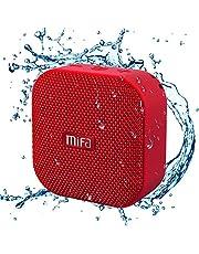 MIFA A1 Bluetooth 4.2 スピーカー IP56防塵防水 小型 5W拡聲器 TWS機能付き 12時間連続再生 ハンズフリー通話 Micro SDカード機能つき(赤)