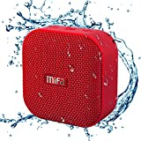 Portable Bluetooth Speaker, MIFA A1 True Wireless Stereo Speaker V4.2, IP56 Dustproof & Waterproof Fabric Design, 12-Hour Playtime, Big HD Sound & Enhanced Bass, Micro SD Card Slot, Built-in Mic, Red
