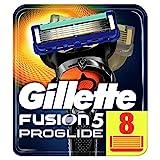 Gillette Fusion 5 Proglide Lames de Rasoir Homme, Pack de 8 Lames de Rechange [OFFICIEL]