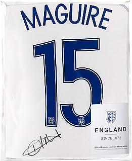 Icons.com Harry Maguire Official England Back Signed 2016-17 Home Shirt