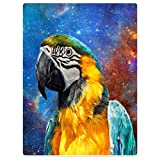 YISUMEI Warm Soft Cozy Plush Throw Fleece-Flannel Blanket 60'x80' Magical Birds Dream Parrot