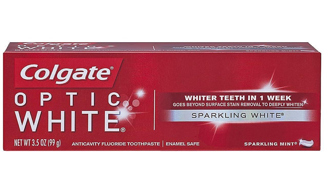 未使用イソギンチャク樹皮Colgate オプティックホワイトハミガキ、スパークリングミント、3.5オンス(6パック)