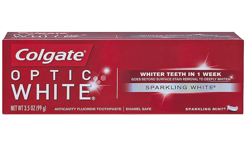 Colgate オプティックホワイトハミガキ、スパークリングミント、3.5オンス(6パック)