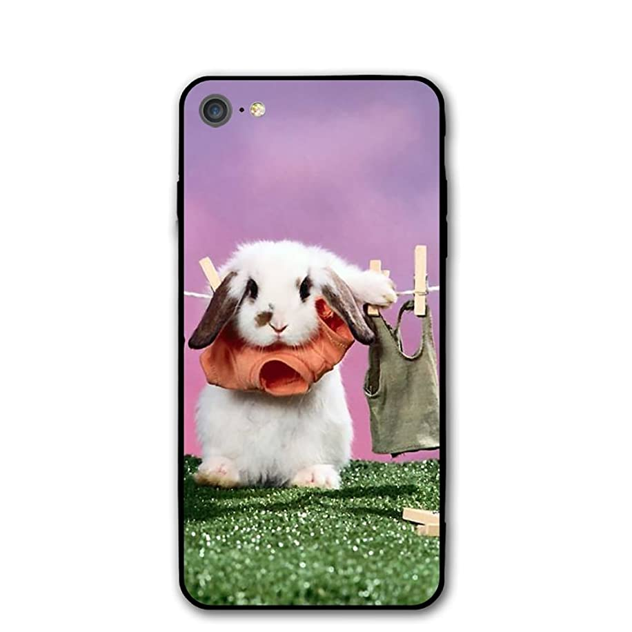 IPhone 7 Case Funny Rabbits Clothes Drying Protective Shockproof Anti-Scratch Resistant Slim Cover Case For IPhone 7 Hard Shell