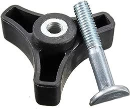 Semoic Black Plastic Triple-Cornered Handle Knob Nut Screw For Honda Lawn Mower Machine