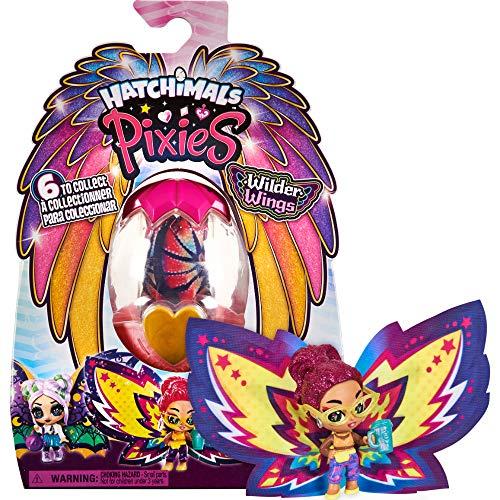 Hatchimals Wilder Wings Pixies Sammelfigur mit Stoff-Flügeln und 2 Zubehörteilen (Designs können variieren)